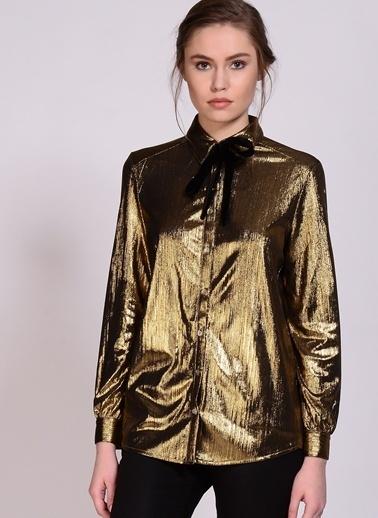 Sister Jane Gömlek Altın